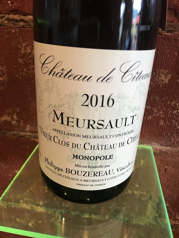 Philippe Bouzereau Meursault Vieux Clos Monopole 2016
