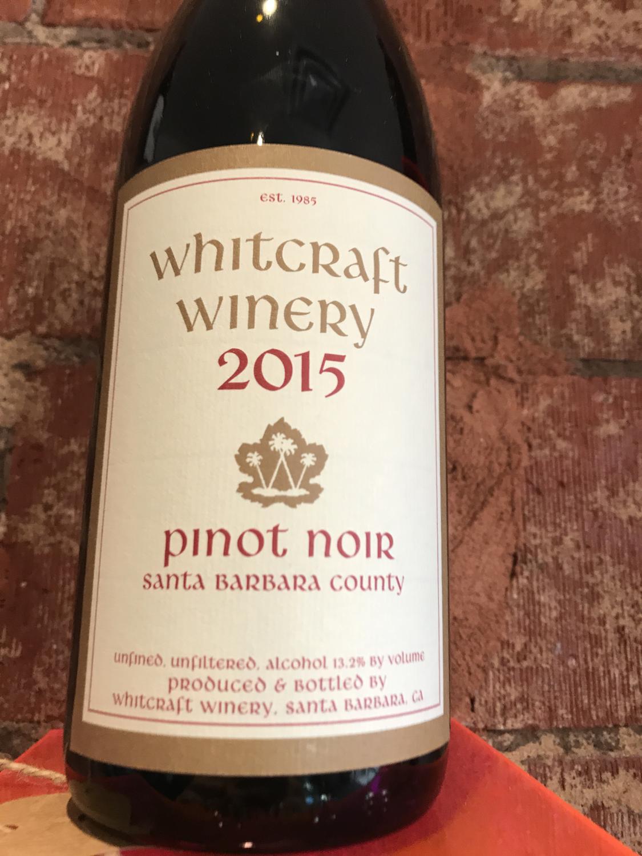 Whit craft Santa Barbara County Pinot Noir 2015