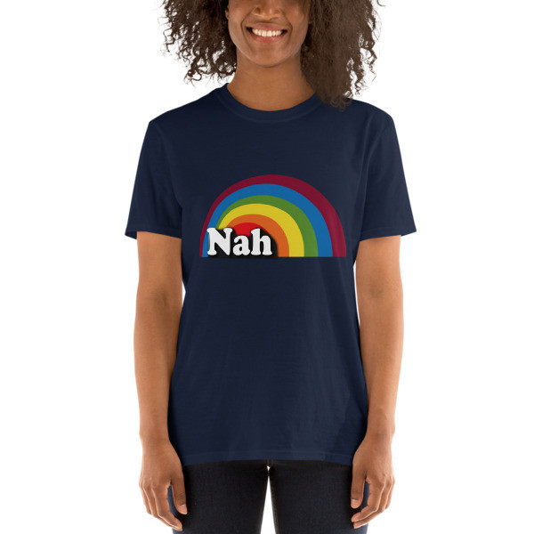 Nah LJN Rainbow Unisex Softstyle T-Shirt with Tear Away Label