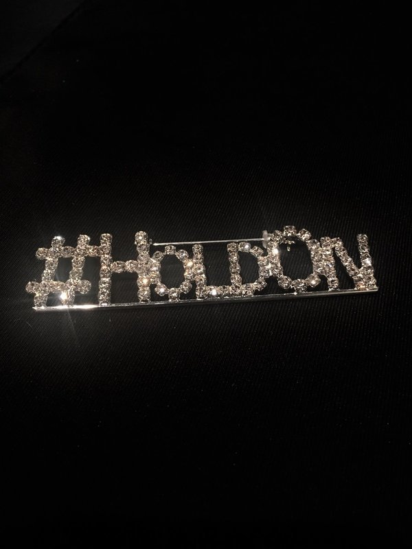 ORDER #HoldOn Rhinestone Pin (lets get this trending on social media)