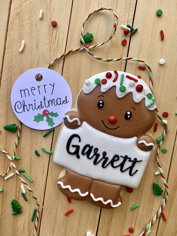 Personalized Gingerbread Man Cookie