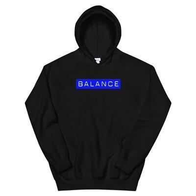 Black and Blue Balance Hoodie
