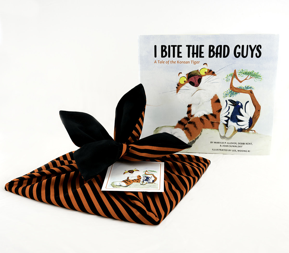 """""""I Bite the Bad Guys"""" Book wrapped in a bojagi (Korean wrapping cloth) 00003"""