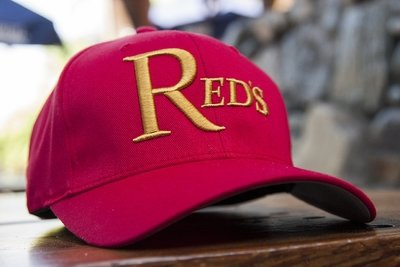 Red Flexfit Embroidered Baseball Hat