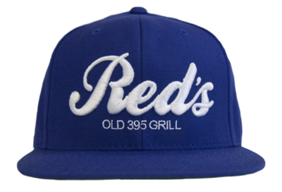 Blue & White Embroidered Snapback Hat