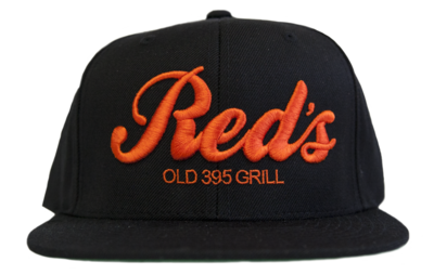 Black & Orange Embroidered Snapback Hat