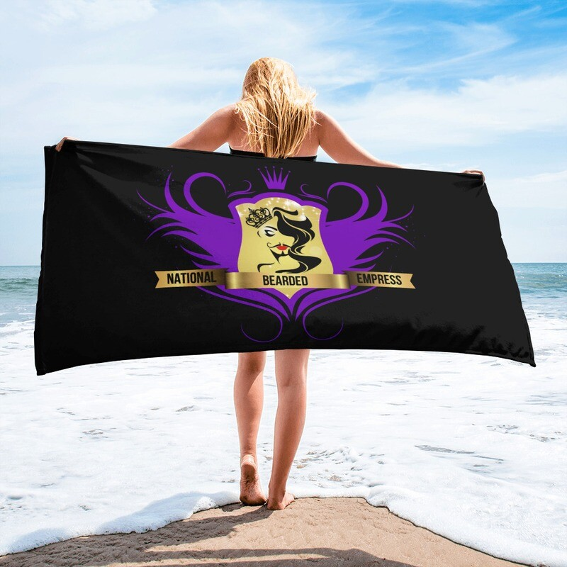 FatMarker & National Bearded Empress Logo Beach Towel