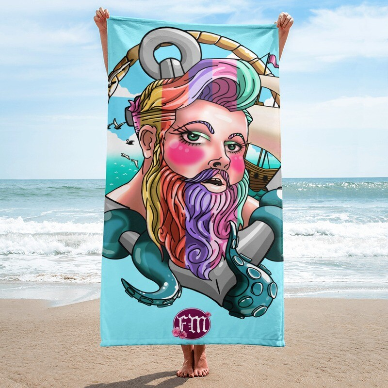 Limited Edition Rainbow Siren Towel for Global Pride 2021