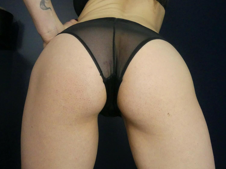 Black Sheer Full back panties *DIRTY*