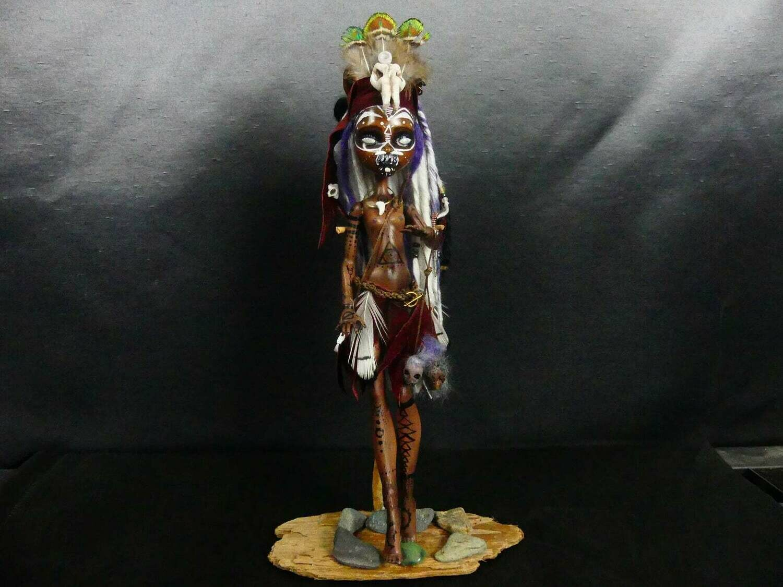 OOAK Art Doll - Kalypsa Tribal Witch Doctor
