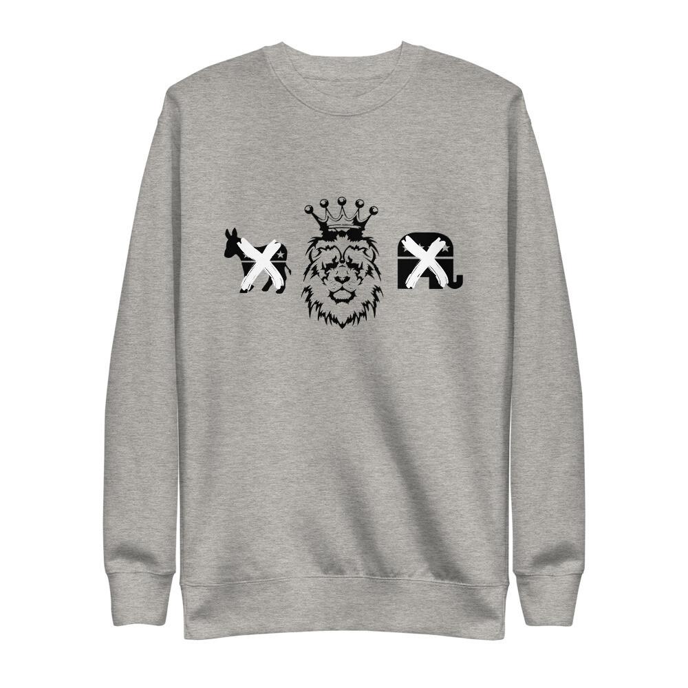 Kingdom Party Unisex Fleece Pullover (Heather Grey)