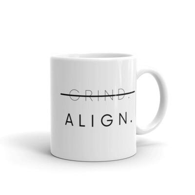 ALIGN white glossy mug