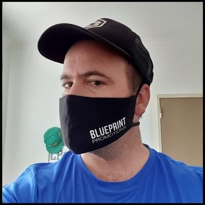 Branded reusable fabric mask