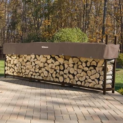 Doc's Brown 16' Firewood Rack With Cover
