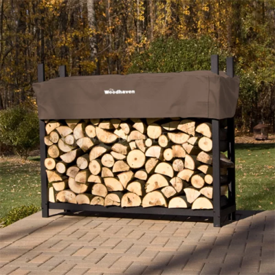 Doc's Brown 5' Firewood Rack with Cover