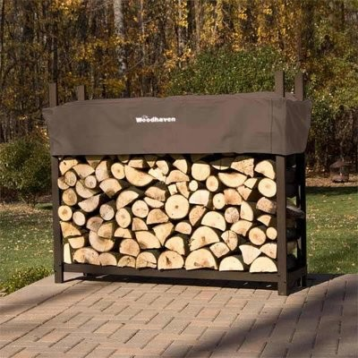 Doc's Brown 6' Firewood Rack With Cover