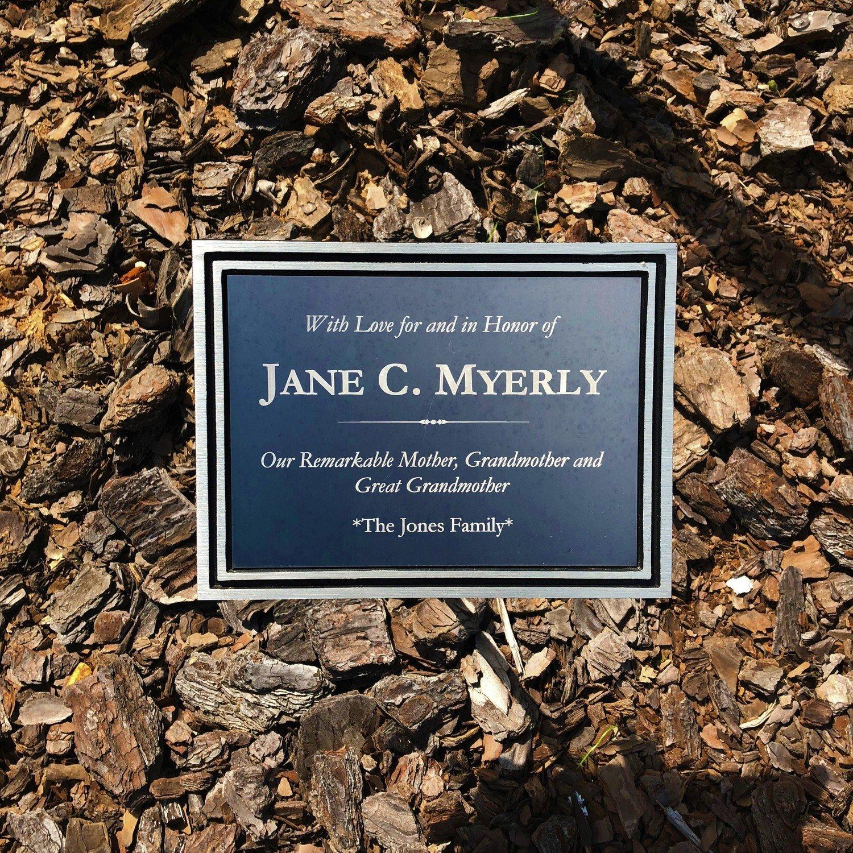 Commemorative Tree Plaque (for OrthoCarolina Sportsplex only)