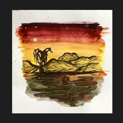 Trees, cactus, Desert Scenes (Watercolor paintings 6