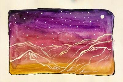 Trees, mountain scenes, (Watercolor paintings 5