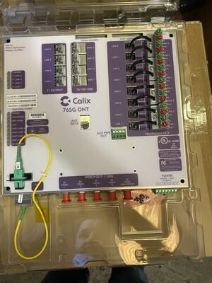 Calix 765G 100-01488 - NEW (CALIX) 765G ONT - 8 POTS, 4 GE, 4 DS1, 1 HIGH-POWER RF VIDEO (1 GHZ)