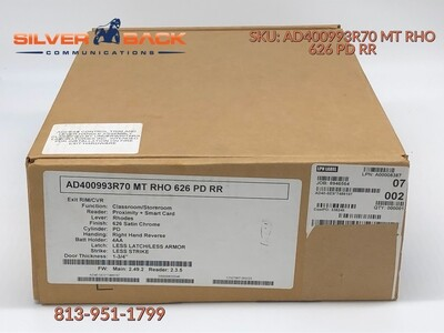 AD400993R70 MT SPA 626 LD RR Schlage Electronics AD-400 Series Networked Wireless Electronic Exit Trim Assembly