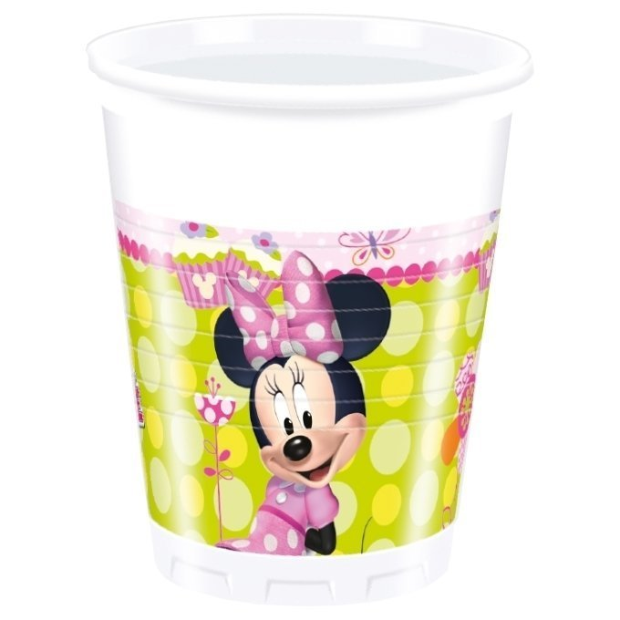 81643-8 Plastic cups 200ml MINNIE BOW-TIQUE