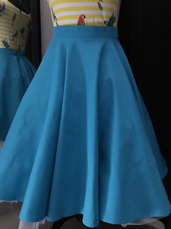 Klokrok in turquoise