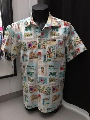 Men's shirt Stamps beige