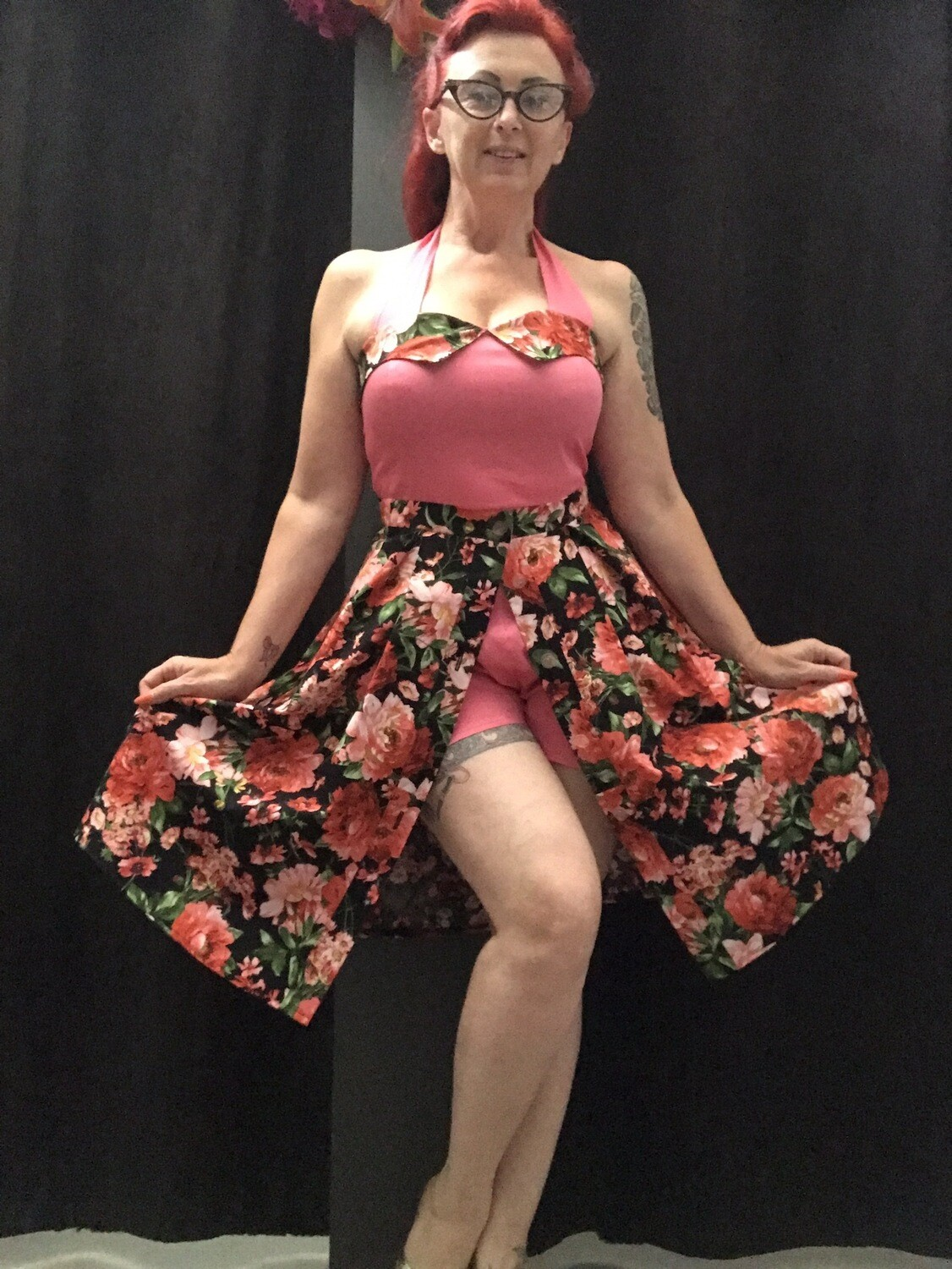 Playsuit Roses coral