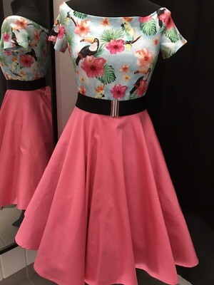 Swing skirt coral