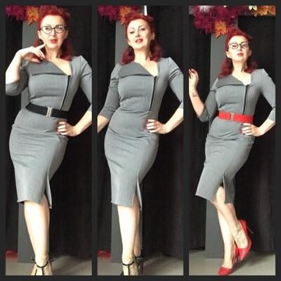 Asymmetrical Secretary Dress