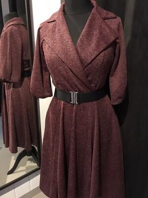 Trenchcoat Tweed Burgundy