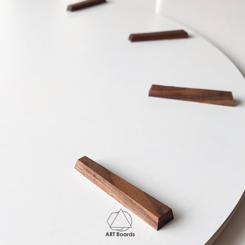 Деления для часов из натурального ореха, длина 3,5см