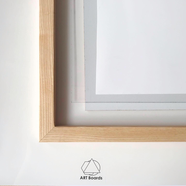 Прямоугольная рама Element из массива+стекло и подложка