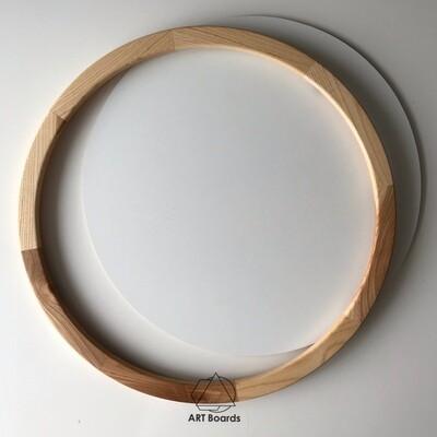 Круглая рама Element из массива+ стекло и подложка