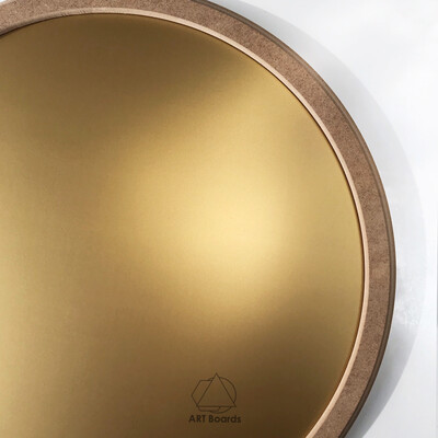 Round frame Element in MDF + board Simple Color (with colored surface)