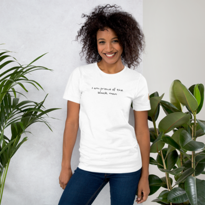 PROUD OF THE BLACK MAN KING WOMAN Short-Sleeve Unisex T-Shirt