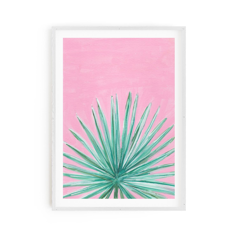 Fan Palm on Pink Print 8x10