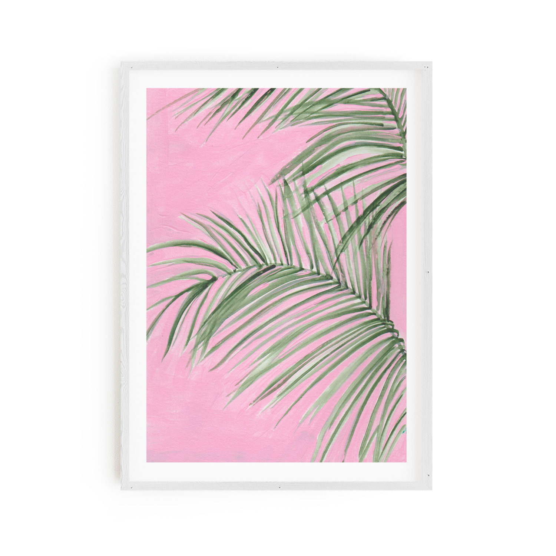 Palm on Pink Print 8x10
