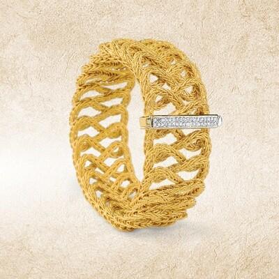 Etruscan Woven Cuff Bracelet