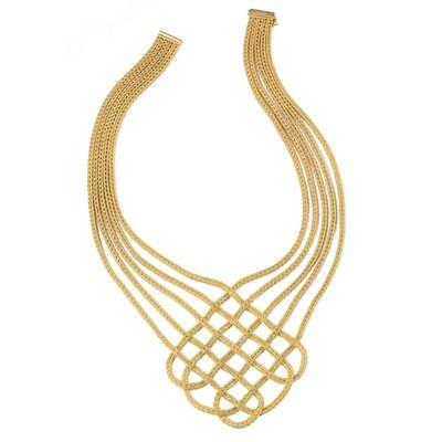 Etruscan Heavy Woven Necklace MC 4455 Z