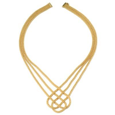 Etruscan Heavy Woven Necklace MC 4457 Z