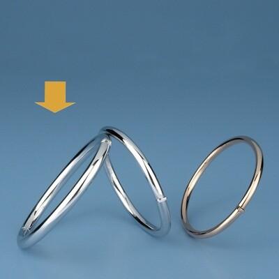 Bangles Oval shape - round tube OE 1226
