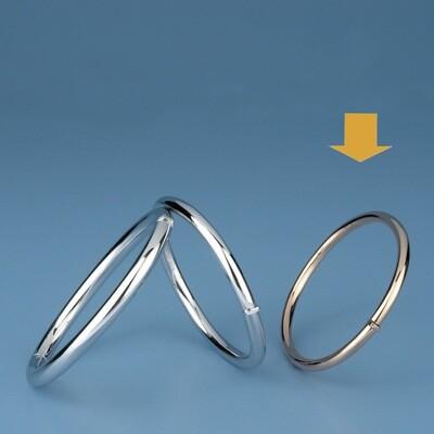 Bangles Oval shape - round tube OE 1228