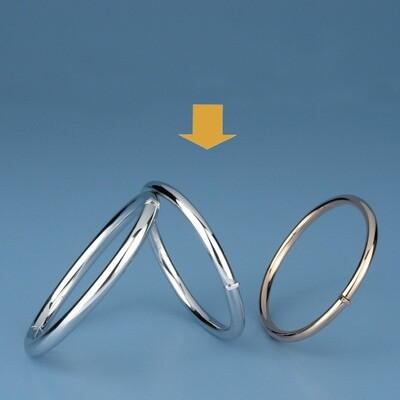 Bangles Oval shape - round tube OE 1227