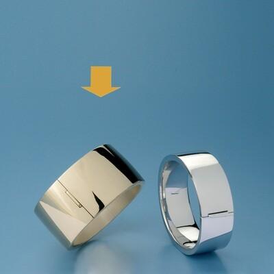 Bangles Oval shape - square tube ATE 543