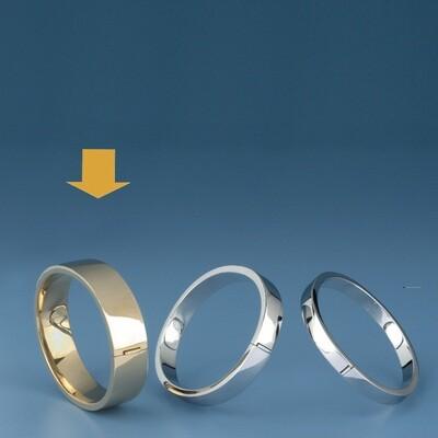 Bangles Oval shape - square tube MC 282