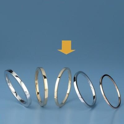 Bangles Oval shape - square tube OE 1229