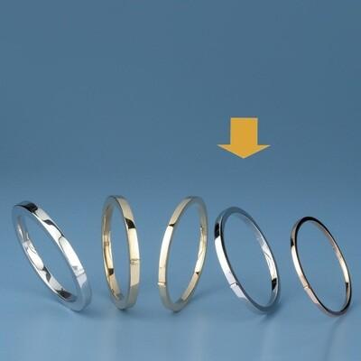 Bangles Oval shape - square tube ATE 491