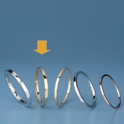 Bangles Oval shape - square tube ATE 493